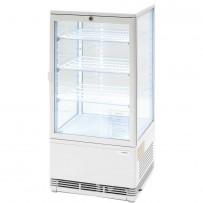 Kühlvitrine mit LED-Innenbeleuchtung, 78 Liter, weiß, Abmessung 428 x 386 x 960 mm (BxTxH)