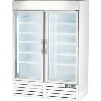 Displaytiefkühlschrank mit zwei Glastüren, 930 Liter, Abmessung 1370 x 700 x 1990 mm (BxTxH)