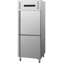 Kühl- / Tiefkühlkombination, 300 + 300 Liter, geeignet für GN 2/1, Abmessung 680 x 800 x 2010 mm (BxTxH)