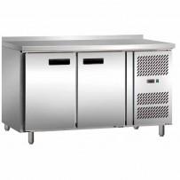 Tiefkühltisch mit zwei Türen, Abmessung 1360 x 700 x 860 mm (BxTxH)