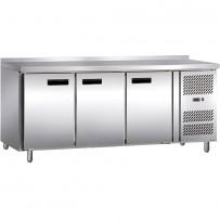 Kühltisch mit drei Türen, Abmessung 1795 x 700 x 860 mm (BxTxH)