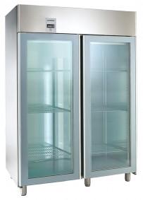 COOL-LINE-Glastürkühlschrank, für GN 2/1, mit 2 Glastüren