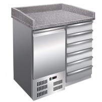 Pizzakühltisch, 955x700x1020mm, 111 L / 88 L, 230 W, 230 V,