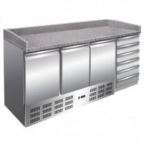 Pizzakühltisch 1885x700x1020mm, intern: 1295x500x595 mm