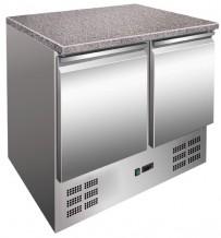 Kühltisch mit Granitplatte, 900x700x850 mm, 257 L / 201 L,