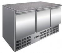 Kühltisch mit Granitplatte, 1365x700x850mm, 400 L / 308 L,