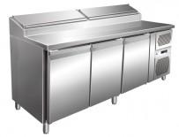 Pizzatisch 3 Türen 1795x700x1080 mm, intern:1234x530x574 mm;