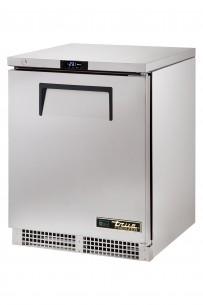 Unterbautiefkühltisch, außen CNS, innen Aluminium, Boden CNS, R290