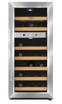Weinkühlschrank für 21 Flaschen,2 Zonen für Weiß-und Rotwein
