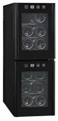 Weinkühlschrank, 254x515x731mm, für 12 Flaschen, 2 Türen,