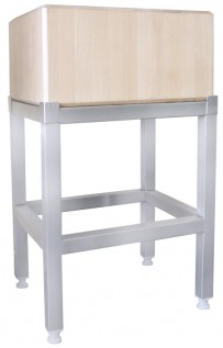 Edelstahluntergestell für 3644 30 x 30 cm (Holzblock)