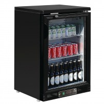Polar 1-türige Bar-Kühlvitrine schwarz 104 Flaschen