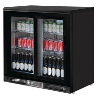 Polar 2-türige Bar-Kühlvitrine 182 Flaschen