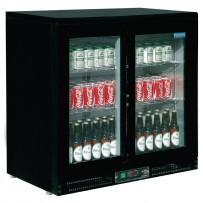 Polar Kühlvitrine schwarz 168 Flaschen