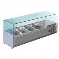 Polar Aufsatzkühlvitrine für 4 GN-Behälter