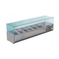 Polar Aufsatzkühlvitrine für 6 GN-Behälter