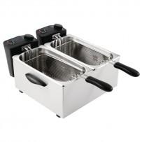 Caterlite Doppelfritteuse Tischmodell für leichte Nutzung 2x 3,5L
