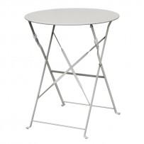 Bolero klappbarer Stahltisch rund 60cm grau