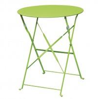Bolero klappbarer Stahltisch rund 60cm hellgrün