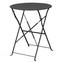 Bolero klappbare Stahltisch rund 60cm schwarz