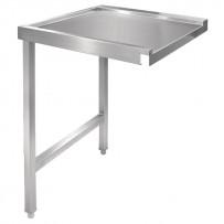 Vogue Tisch für Haubenspülmaschine links 60cm