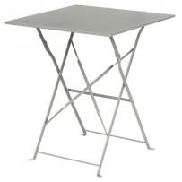 Bolero grauer Terassentisch aus Stahl viereckig
