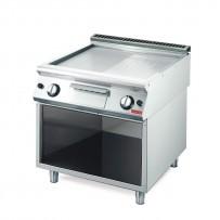 Gastro M 700 Gas Grillplatte 70/80 halb glatt