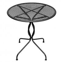 Bolero klassischer Stahltisch schwarz 70cm
