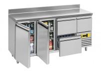 Snack-/Rückbuffetkühltisch, steckerfertig, 2 Türen Korpushöhe: 810 mm, Tiefe: 600 mm