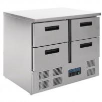 Polar Kühltisch mit 4 Schubladen 240L